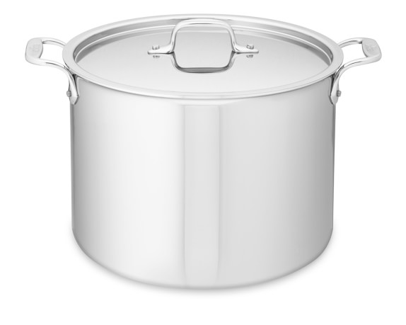 All-Clad Tri-Ply Stainless-Steel Stock Pot, 12-Qt.
