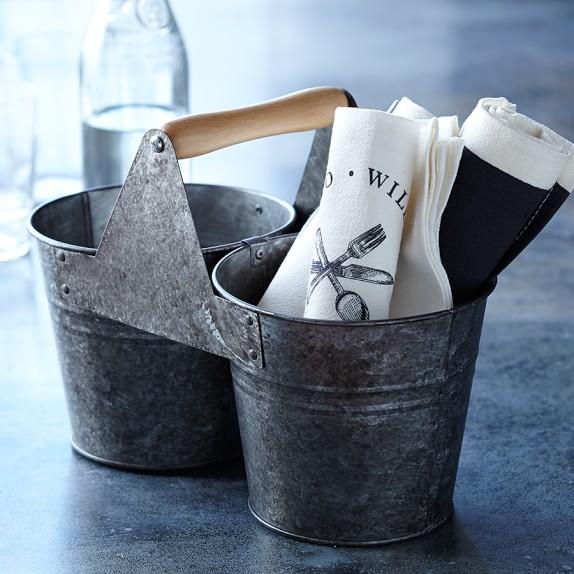 Williams Sonoma Open Kitchen Galvanized Bucket