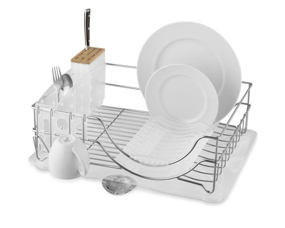 simplehuman™ System Dish Rack with Glass Dryer