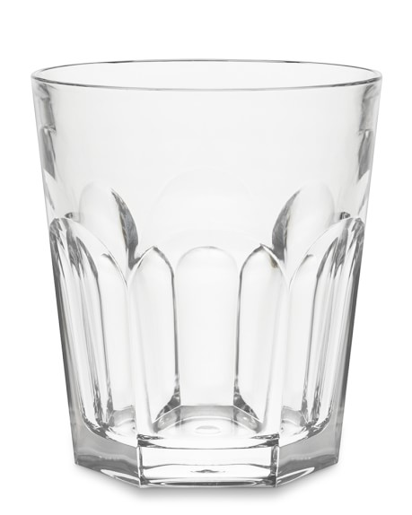 DuraClear® Faceted Short Tumblers, Clear, Set of 6