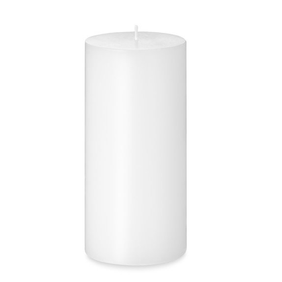 Pillar Candle, White, 3