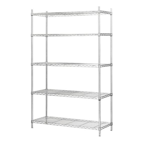 Wire Shelving Extra Shelf for Wide Unit, Chrome