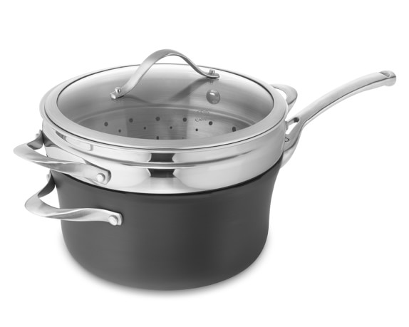 Calphalon Contemporary Nonstick Saucepan with Lid & Steamer, 4 1/2-Qt.