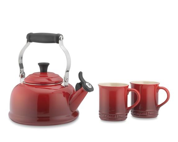 Le Creuset Tea Kettle & Mug Set, Red