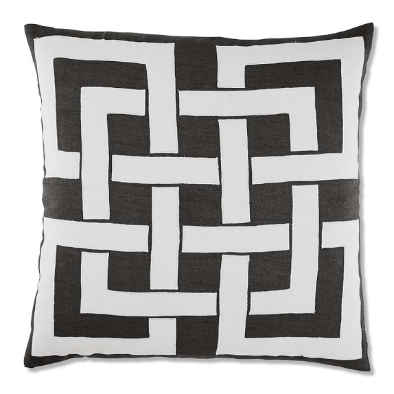 Maze Applique Pillow Cover, 24