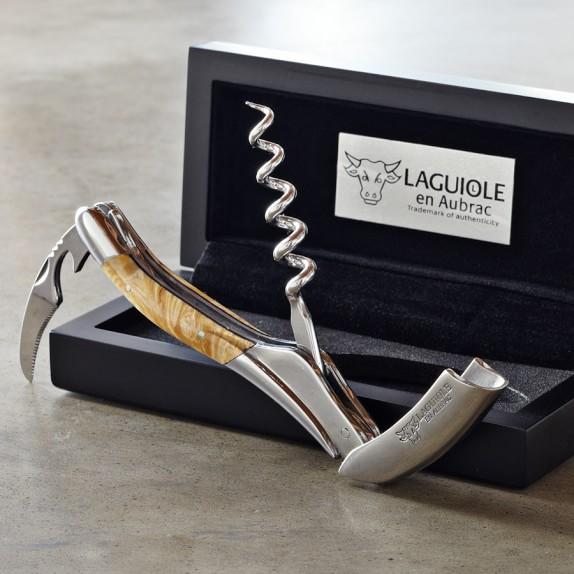 Laguiole En Aubrac Waiters Corkscrew Wine Opener, Maple