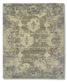 Misty Morning Hand-Knotted Wool/Silk Rug, 5x8', Dark Taupe/Dark Ivory