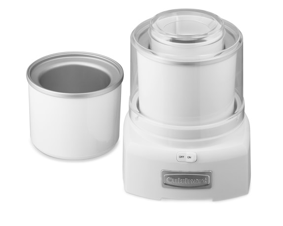 Cuisinart Ice Cream Maker with Extra Freezer Bowl, White