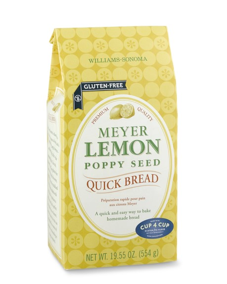 Williams Sonoma Gluten-Free Meyer Lemon Poppy Seed Quick Bread Mix