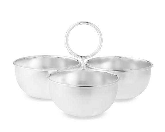 Presidio 3-Section Condiment Serve Bowl with Handles