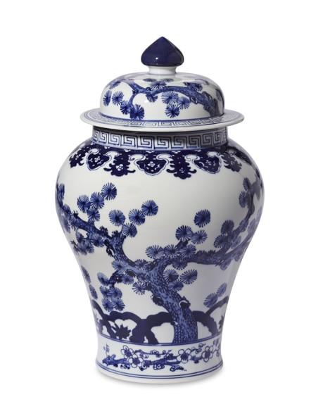 Blue & White Swallow Tail Ginger Jar, 16