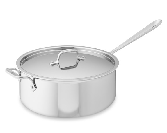 All-Clad Tri-Ply Stainless-Steel Deep Sauté Pan, 6-Qt.