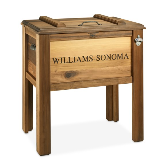 Personalized Wood Beer Cooler