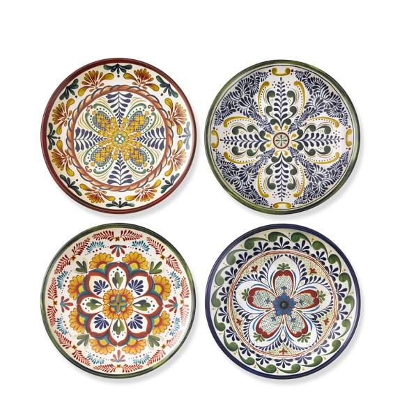 Veracruz Melamine Salad Plates, Set of 4, Multi