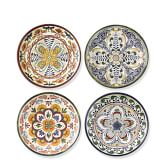 Veracruz Melamine Salad Plates, Set of 4, Multi