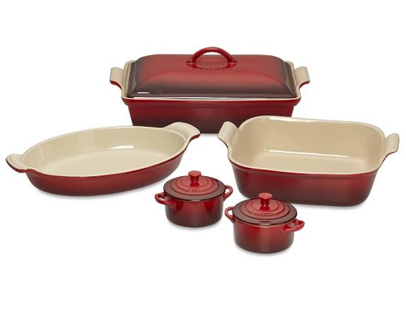 Le Creuset Stoneware 8-Piece Bakeware Set, Red