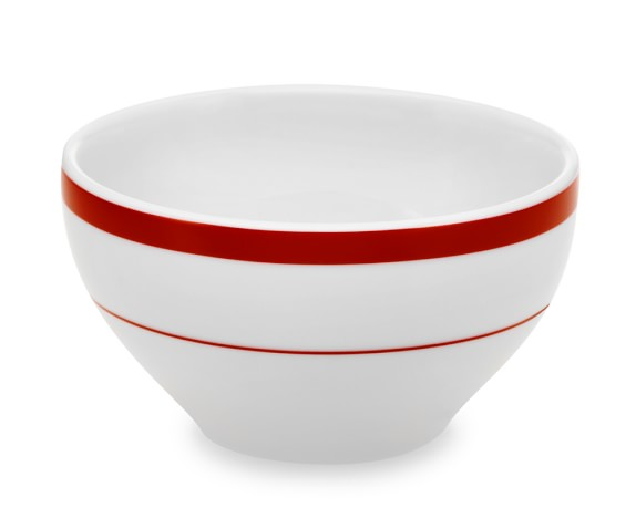 Brasserie Breakfast Bowls, Red, Set of 4