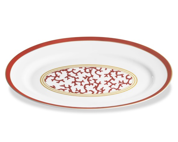 Raynaud Cristobal Oval Platter, Coral