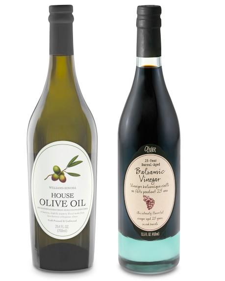 Williams Sonoma House Olive Oil & Olivier 25-Year Barrel-Aged Balsamic Vinegar, Set of 2
