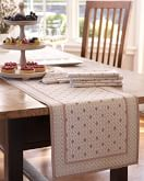 Marseille Table Table Runner, Khaki