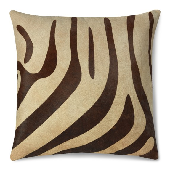 Printed Zebra Hide Pillow Cover, 22