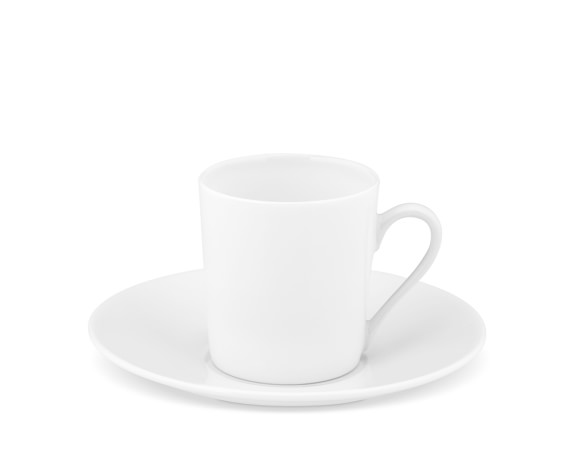 Apilco Tuileries Porcelain Espresso Cups & Saucers, Set of 4