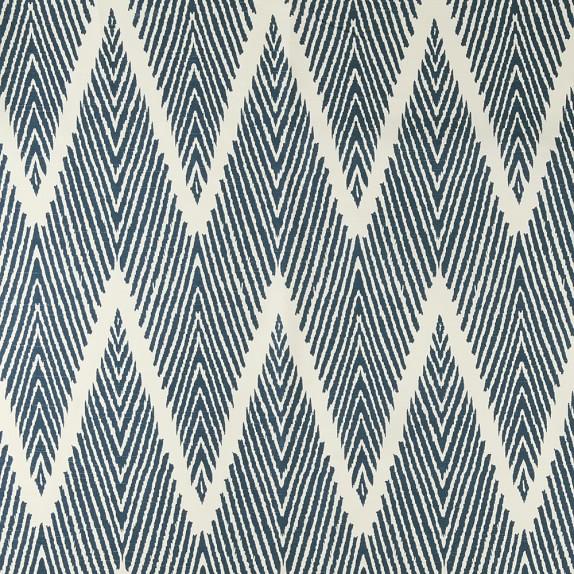 Fabric By The Yard Cotton Zig Zag Navy Williams Sonoma