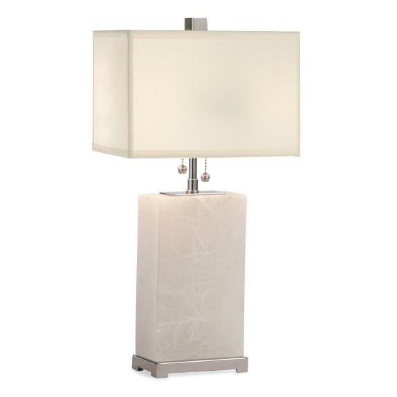 Alabaster Block Lamp, Tall