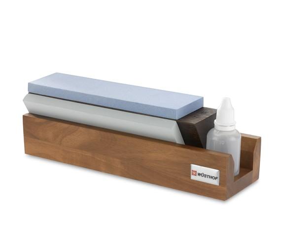 Wüsthof 240/1000/3000-Grit Tri-Stone Sharpener