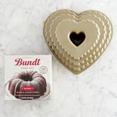 Nordic Ware Scallop Heart Bundt® Cake Pan & Williams Sonoma Red Velvet Bundt Cake Mix Gift Set
