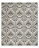 Ikat Medallion Indoor/Outdoor Rug, 9x12', Gray/Egret