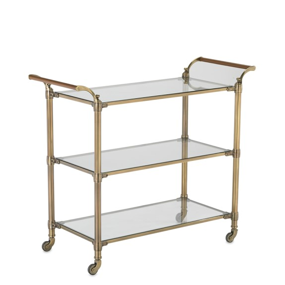 Beckett Bar Cart, Brass