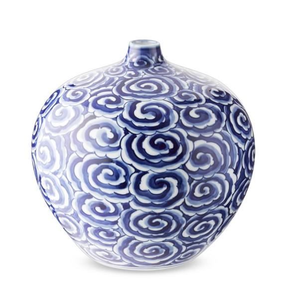 Porcelain Bud Vase, Rose Motif