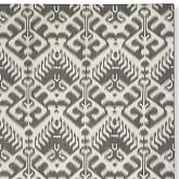 Ikat Medallion Indoor/Outdoor Gray/Egret Rug Swatch