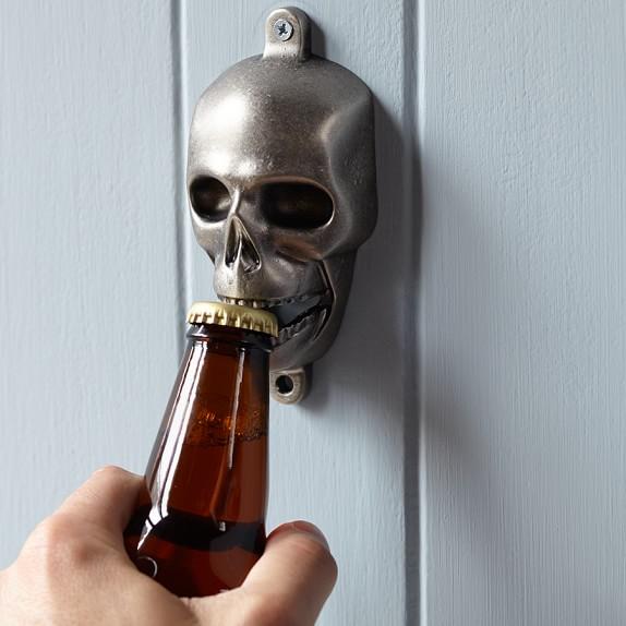 Novelty Wall-Mounted Bottle Opener, Skull