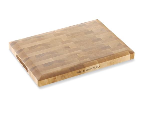 Williams Sonoma End-Grain Cutting Board, Birch, Small