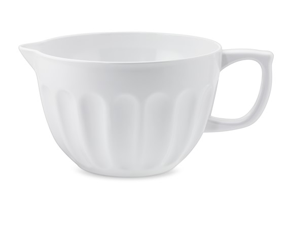 Melamine Latte Batter Mixing Bowl, White