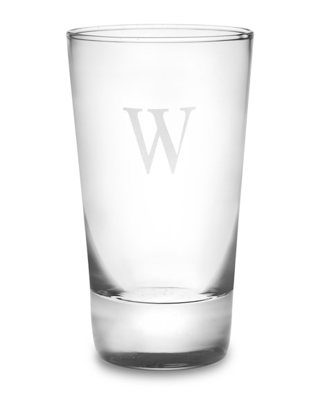 Monogrammed Highball Glasses, Single-Initial, Set of 4