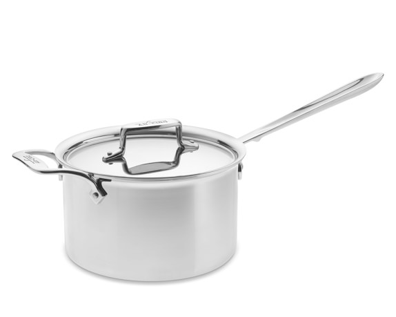 All-Clad d5 Stainless-Steel Saucepan, 4-Qt