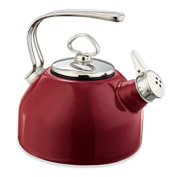 Chantal Whistling Tea Kettle, Red