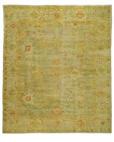 Green Meadows Oushak Rug, 6' X 9'