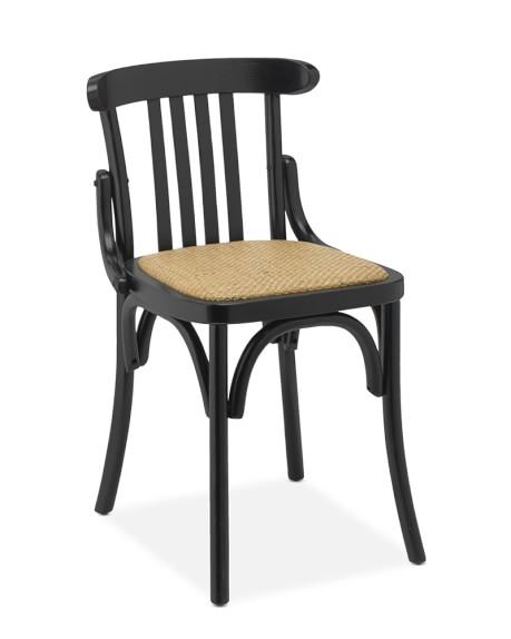 Antoine Bistro Side Chair, Black
