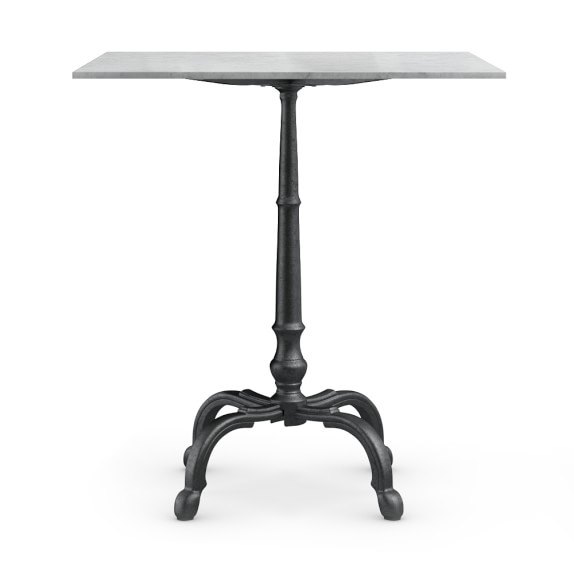 La Coupole Bar Height Bistro Table With Marble Top, Square, 40