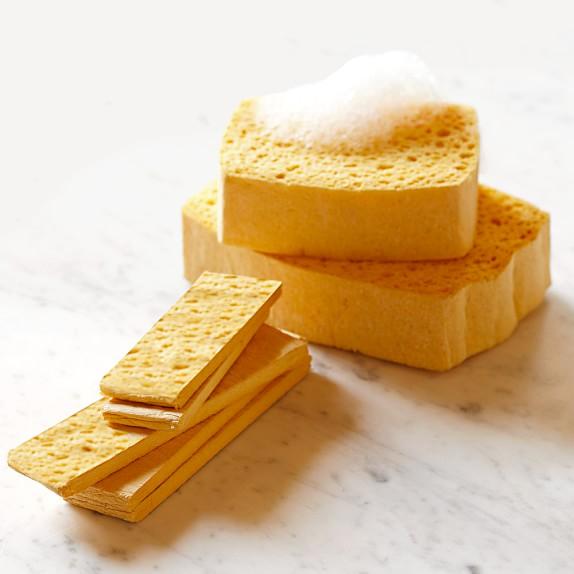 Regular Pop-Up Sponges, Yellow, Set of 12