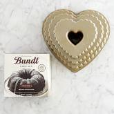 Nordic Ware Scallop Heart Bundt® Cake Pan & Williams Sonoma Devils Food Bundt Cake Mix Gift Set