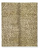 Hand-Knotted Leopard Rug, 6x9', Tan