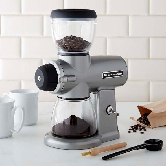 KitchenAid® Burr Coffee Grinder, Contour Silver