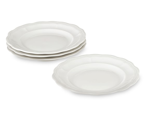Pillivuyt Queen Anne Porcelain Salad Plates, Set of 4