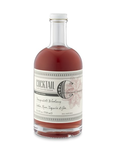 Williams Sonoma Cocktail Mix, Pomegranate-Blueberry