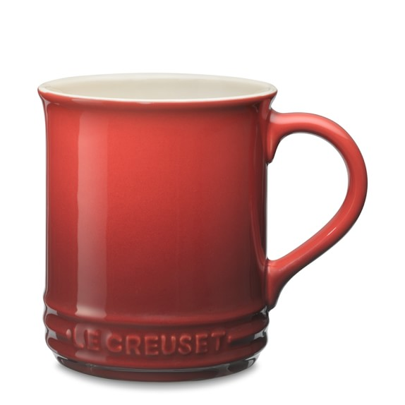 Le Creuset Stoneware Mugs, Set of 2, Red